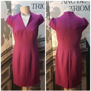 Tahari Fuschia Pencil Dress Size 8